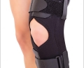 Mobile knee brace with front fastening  and mobile articulations, TRIAGEN